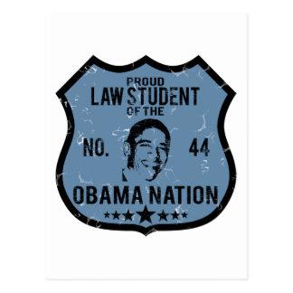 Law Student Obama Nation Postcard