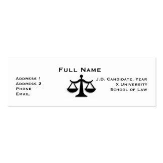 Law Student Profile Card 1 Business Card Templates