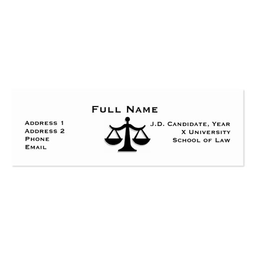 Law student business card templates page2 bizcardstudio law student profile card 1 business card templates accmission Images