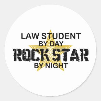 Law Student Rock Star Classic Round Sticker
