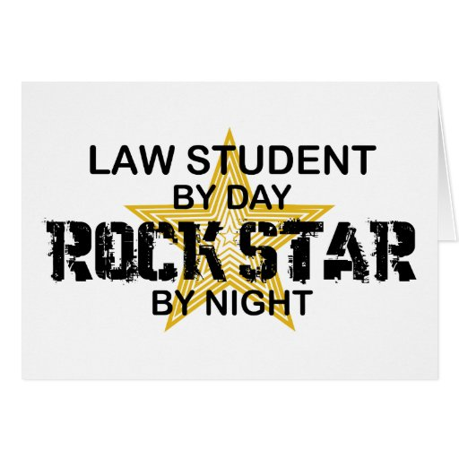 Law Student Rock Star Greeting Card