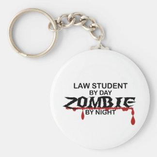 Law Student Zombie Basic Round Button Keychain
