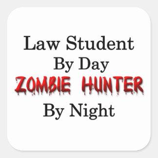 Law Student/Zombie Hunter Square Sticker