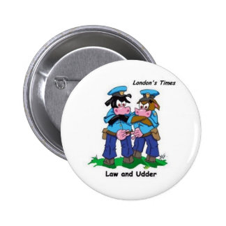 Law & Udder Funny Cow Cartoon Gifts, Collectibles Pins
