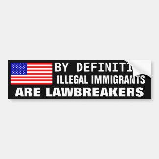 Lawbreakers Car Bumper Sticker