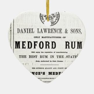 Lawerence's Medford Rum Ceramic Ornament
