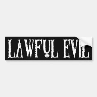 """""""Lawful Evil"""" Car Bumper Sticker"""