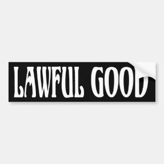 """""""Lawful Good"""" Car Bumper Sticker"""