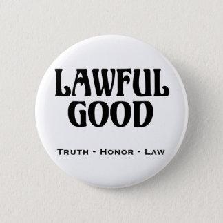 """Lawful Good"" Pinback Button"