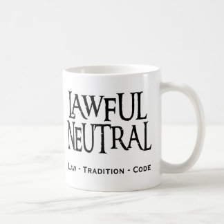 """Lawful Neutral"" Coffee Mug"