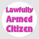 Lawfully Armed Citizen Classic Round Sticker