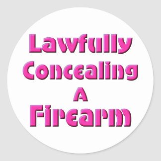 Lawfully Concealing a Firearm Sticker