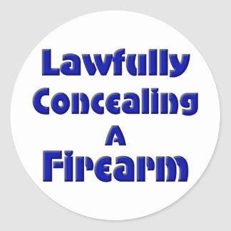 Lawfully Concealing a Firearm Stickers