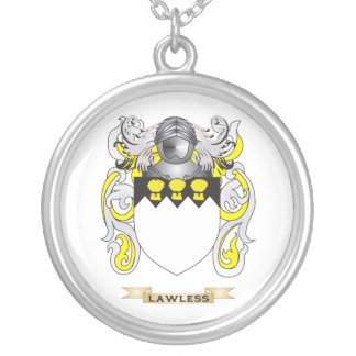 Lawless Coat of Arms (Family Crest) Silver Plated Necklace