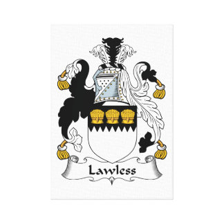 Lawless Family Crest Canvas Print