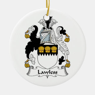 Lawless Family Crest Christmas Tree Ornaments