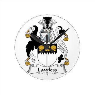 Lawless Family Crest Clocks
