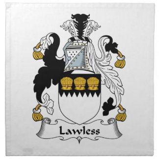 Lawless Family Crest Cloth Napkins