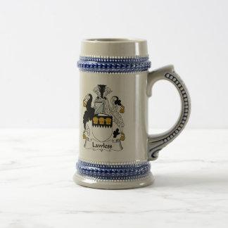 Lawless Family Crest Coffee Mugs