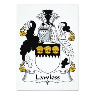 Lawless Family Crest Custom Invite