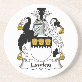Lawless Family Crest Drink Coasters