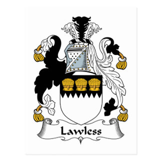 Lawless Family Crest Post Cards