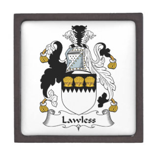 Lawless Family Crest Premium Jewelry Boxes