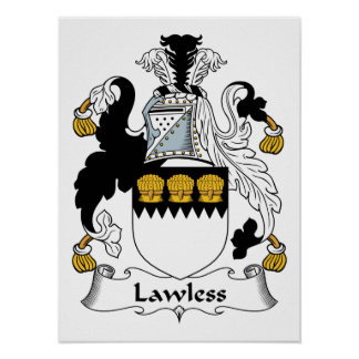 Lawless Family Crest Print