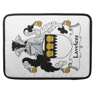 Lawless Family Crest Sleeves For MacBooks
