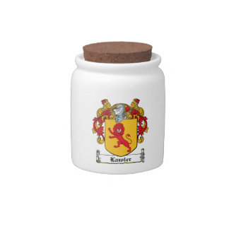 Lawlor Family Crest Candy Jar