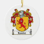 Lawlor Family Crest Christmas Ornament
