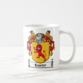 Lawlor Family Crest Classic White Coffee Mug