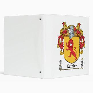 Lawlor Family Crest Vinyl Binder