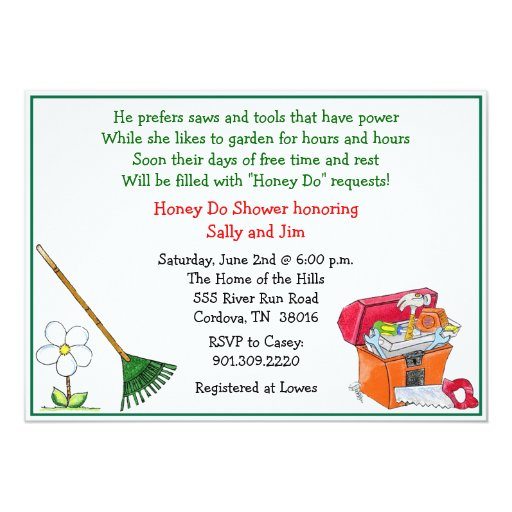 Lawn and Garden Bridal Shower Invitation