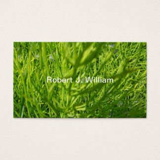 Lawn and grasses business cards