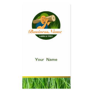 Lawn and Tree Care Business Card Template