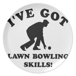 lawn bow skill gift items dinner plate