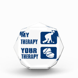 Lawn bowl therapy designs acrylic award