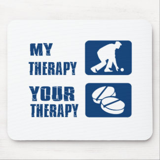 Lawn bowl therapy designs mouse pad