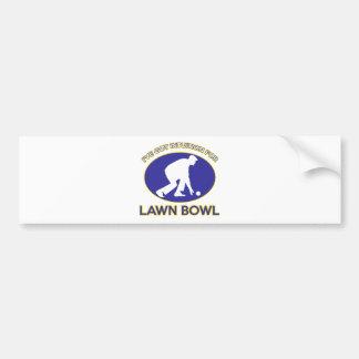 Lawn bowling design car bumper sticker