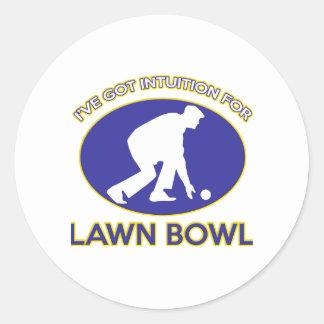 Lawn bowling design classic round sticker