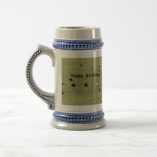 Lawn Bowls Action Game, Beer Stein