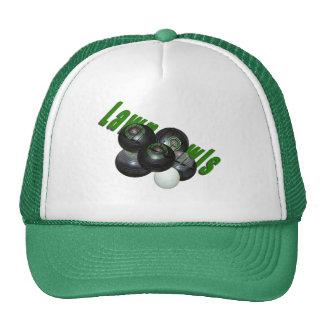 Lawn Bowls And Logo Green Truckers Cap Trucker Hat