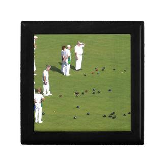 Lawn Bowls England Keepsake Box