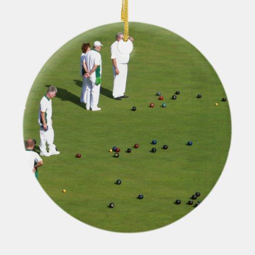 Lawn Bowls England Ornaments