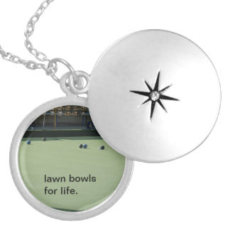 Lawn_Bowls_For_Life_Silver_Necklace, Dije