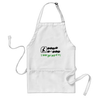 Lawn Bowls -I Never Get Jack Of It! Adult Apron