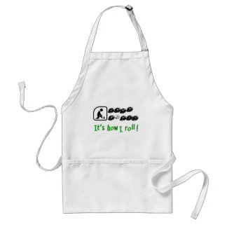Lawn Bowls -It's How I Roll Adult Apron