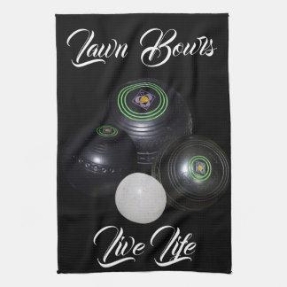 Lawn Bowls Live Life, Towel
