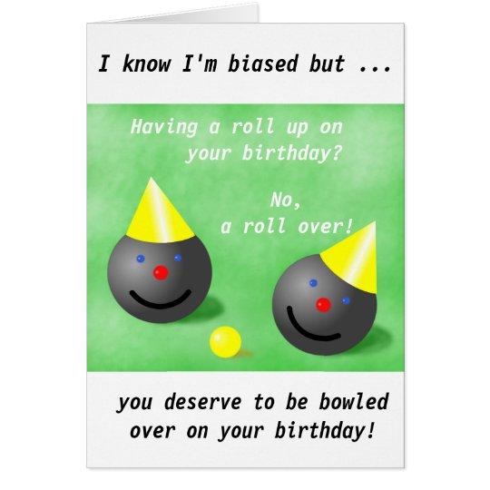 Lawn Bowls Short Mat Bowls Birthday Card Zazzle